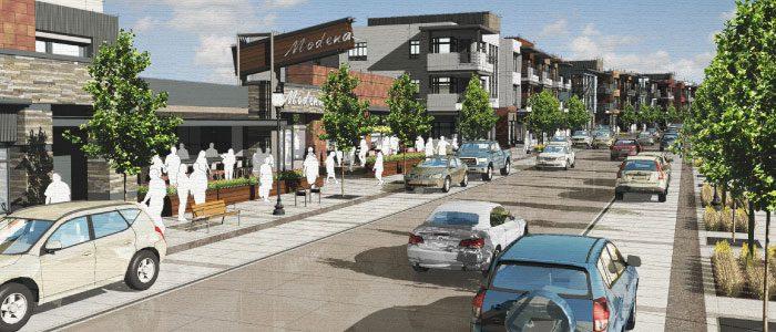 Artist conceptual rendering of future DELO neighborhood.