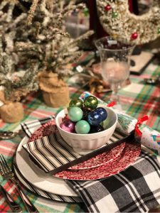 Plaid Holiday Tables